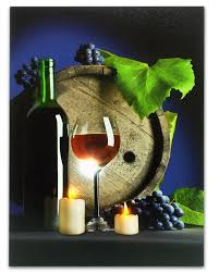 amazon com led wine decor for kitchen red wine and grapes led