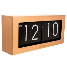 60s Clock Nextime Flipped Clock Orange Retro Flip Desk And Wall Clock