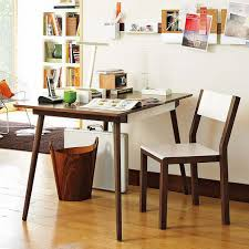 modern home office desk with brown color table and