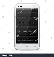 Two Dark Ui - dark mobile application ui controls set stock vector 142713163