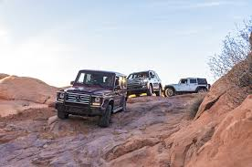 mobil jeep offroad jeep wrangler vs mercedes g550 vs toyota land cruiser comparison
