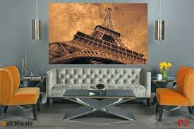 mural eiffel tower in vintage style photo mural eiffel tower in vintage style