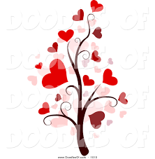 vector clipart of a valentine doodle tree by bnp design studio 1010