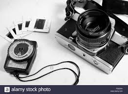 film camera light meter old film camera light meter and slides stock photo 94097025 alamy