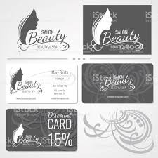 beauty salon vector business card templates with beautiful woman
