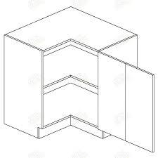 meuble bas d angle pour cuisine zuza meuble angle bas drp 90x90 1 porte