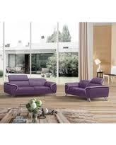 alert purple leather sofa deals