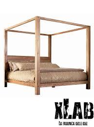 letto baldacchino letto matrimoniale baldacchino in legno di castagno made in italy