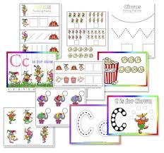 c is for clown free preschool printables confessions of a