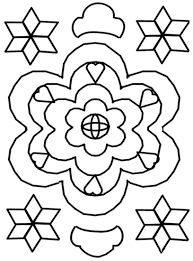 Rangoli Coloring Pages Free Arresting Printable  thekindproject