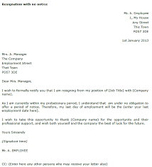 11 resignation letter sample with notice period