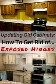 updating old cabinets how to get a modern look kitchen hinges