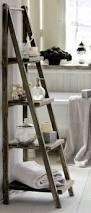 Diy Leaning Ladder Bathroom Shelf by 43 Best Ladder Shelving Images On Pinterest Architecture Bath