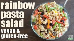 rainbow pasta salad vegan u0026 gluten free something vegan youtube