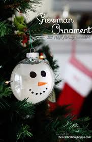 diy ornament paint dipped snowman the celebration shoppe