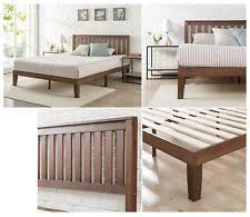 solid wood platform beds frames ebay