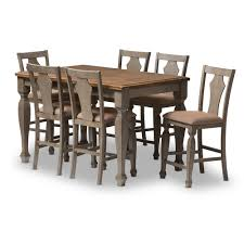 Grey And Oak Furniture Baxton Studio Wholesale 7 Piece Sets Wholesale Dining Room