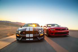 mustang stingray 2014 2015 chevrolet camaro z 28 vs 2016 ford shelby gt350r mustang
