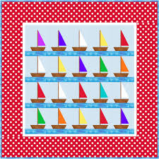 Nautical Quilts Free Little Boys Sailboat Pattern