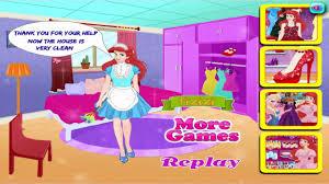disney princess games ariel house cleaning ड ज न