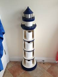Nautical Themed Bathroom Decor Lighthouse Toilet Paper Roll Holder What A Fun Idea Tried To