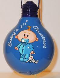 baby u0027s first christmas recycled light bulb ornaments pinterest