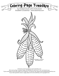 Dulemba Coloring Page Tuesdays Harvest Corn Photosynthesis Coloring Page