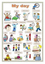 my day worksheet free esl printable worksheets made by teachers