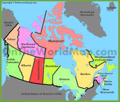 Map Of Canada Provinces Canada Maps Maps Of Canada