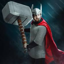 be the god of hyperbole with thinkgeek s 4 foot tall mjölnir foam prop