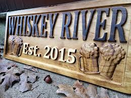 decor signs personalized bar sign custom carved wood sign