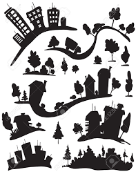 row of houses silhouette google search silhouettes pinterest