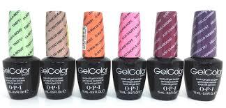 opi soak off nail gel polish hawaii 2 collection 6 color set ebay