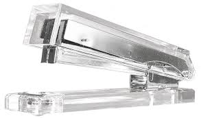 Glass Desk Accessories by Amazon Com Kantek Acrylic Stapler Fits Full Strip Of Standard
