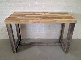 Counter Height Conference Table Reclaimed Wood Bar Restaurant Counter Community Rustic Custom