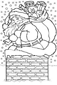 santa coloring pages free christmas coloring pages of