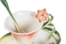 antica soffitta antica soffitta tazzina tazza caff礙 fiore arancio piattino porcellana