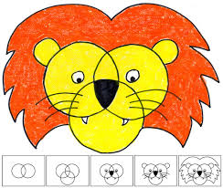 art projects for kids how to draw a lion oil pastel projects