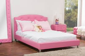 Canterbury Bedroom Furniture by Baxton Studio Canterbury Pink Leather Contemporary Full Size Bed