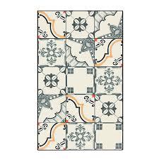 tapis de cuisine alinea tapis de cuisine carreaux de ciment 50x80cm en vinyle vistacimen1