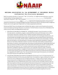 naaip confidential non disclosure agreement male