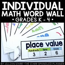 math word walls the starr spangled planner