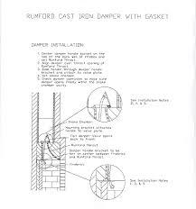 Damper On Fireplace by Cast Iron Rumford Damper Installation
