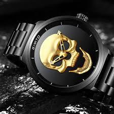 imagenes de calaveras hombres reloj de calavera 3d punk para hombres spinnelix