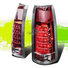 Led Tail Light Bulbs For Trucks by For 88 98 Gmc Chevy C K C1500 2500 3500 Chrome Red Led Tail Light