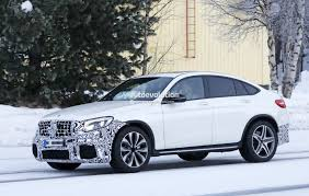mercedes amg turbo 2018 mercedes amg glc 63 coupe makes spyshot debut ready for