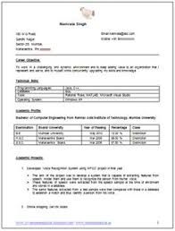 Resume Examples Word Doc by Mca Fresher Resume Format Doc 1 Career Pinterest Resume Format