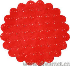 tulle wholesale custom peaked edge tulle circle with decoration wholesale
