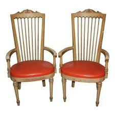 High Armchairs Vintage U0026 Used French Provincial Accent Chairs Chairish