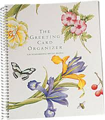 kimball greeting card organizer book personal